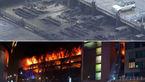 آتش گرفتن یک خودرو، 1400 خودرو را به آتش کشید+فیلم