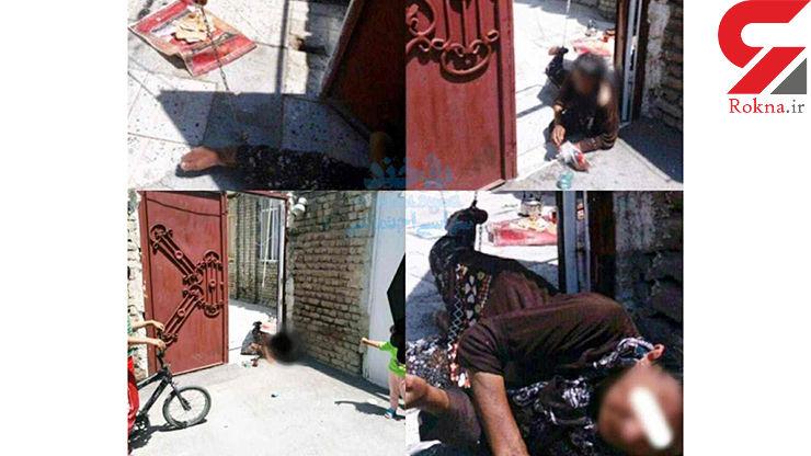 اتفاقی تلخ در ارومیه/ به زنجیر کشیدن مادر ناتوان ذهنی توسط پسرش+ عکس