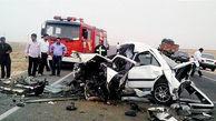 برخورد مرگبار 3 خودرو در آزادراه قزوین-کرج / راننده مقصر کشته شد