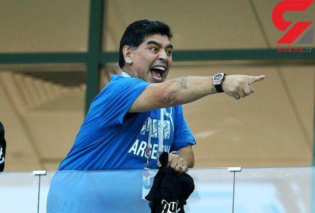 کری از راه دور مارادونا برای هواداران ریورپلات
