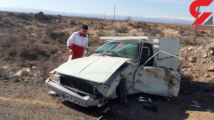 سانحه رانندگی در سبزوار با سه مصدوم+عکس