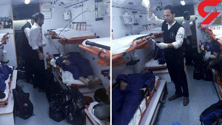 حادثه وحشتناک برای اتوبوس شیراز در جاده اصفهان / بامداد امروز رخ داد + عکس