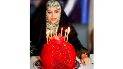 کیک تولد جالب خانم مجری سرشناس تلویزیون  +عکس