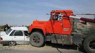 یک کشته و 2 مصدوم حاصل برخورد پراید با کامیون در فارس