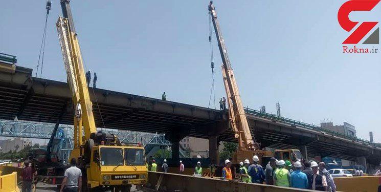 شنبه آخرین تیرک پل گیشا برداشته می شود