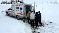 خبرخوب / نوزاد میانه ای در میان برف و کولاک در آمبولانس سالم به دنیا آمد