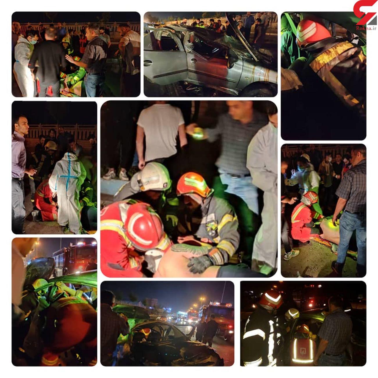 راننده 206 در ماشین محبوس شد + عکس