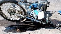 مرگ راکب موتورسوار جهرمی در تصادف با کامیون