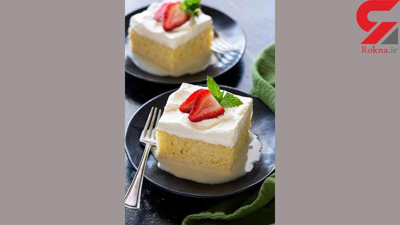عصرانه ای خوشمزه به نام کیک سه شیر + دستور تهیه