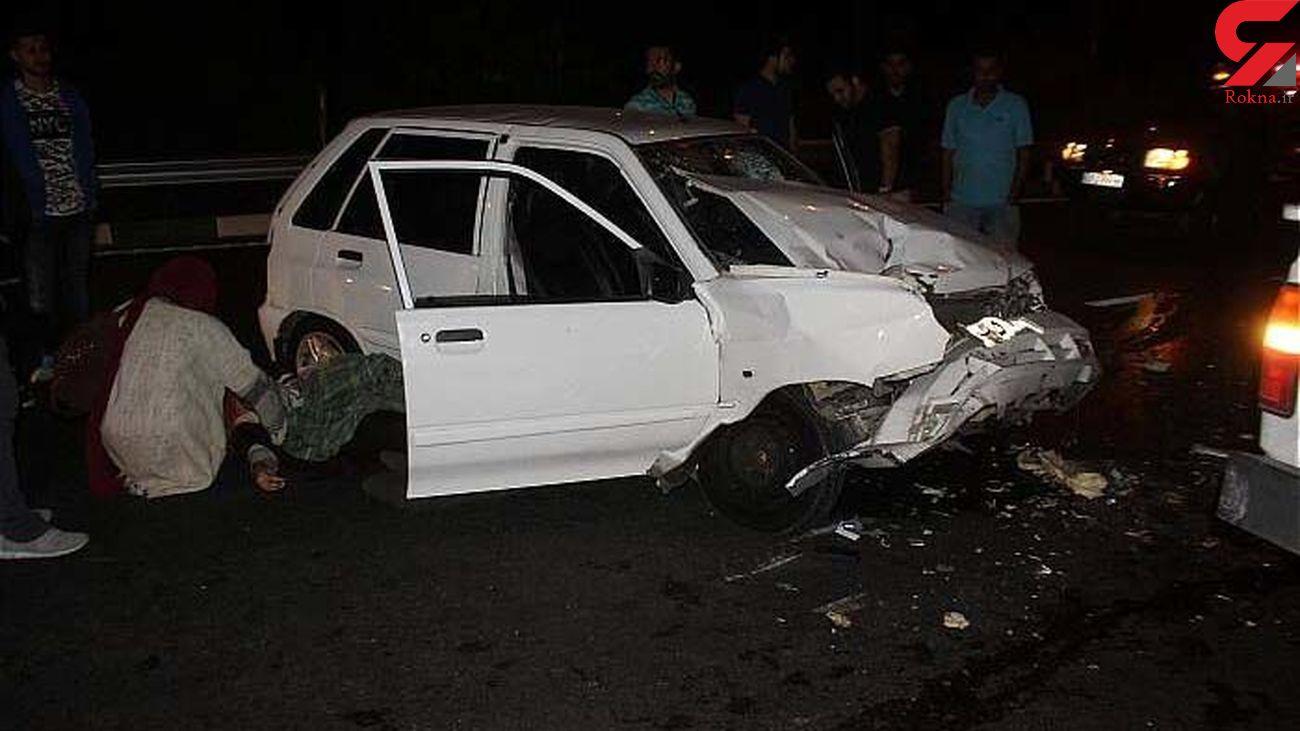 تصادف شامگاه پنجشنبه شرق گلستان ۷ مصدوم داشت+عکس