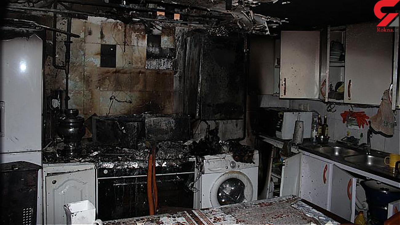 آتش سوزی هولناک در خانه مسکونی در اهوار