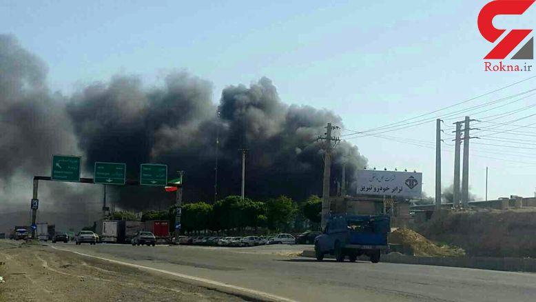کارخانه ایران خودرو آتش گرفت+ عکس
