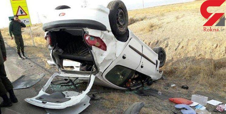 206 در ساوجبلاغ چپ کرد و راننده 405 ساله در دم جان باخت + عکس