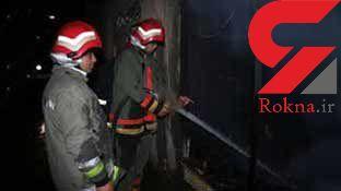 آتش سوزی در واحد صنفی محلات + عکس