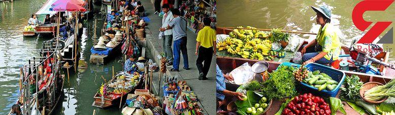 بازار شناور و خاص بانکوک!