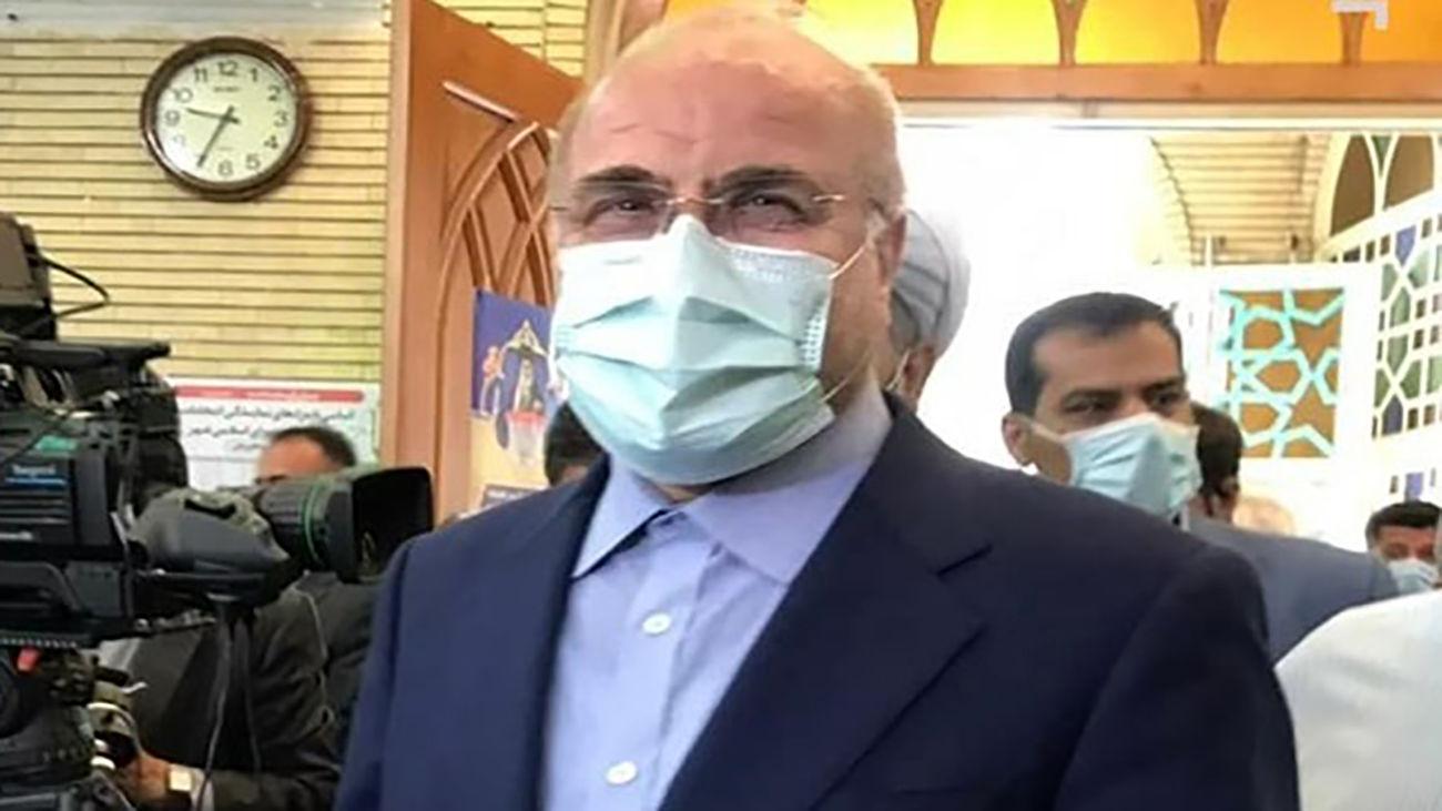 Iran's Parl. speaker casts his vote in Tehran