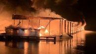 مرگ تلخ 8 نفر در پی آتش سوزی وحشتناک 35 قایق