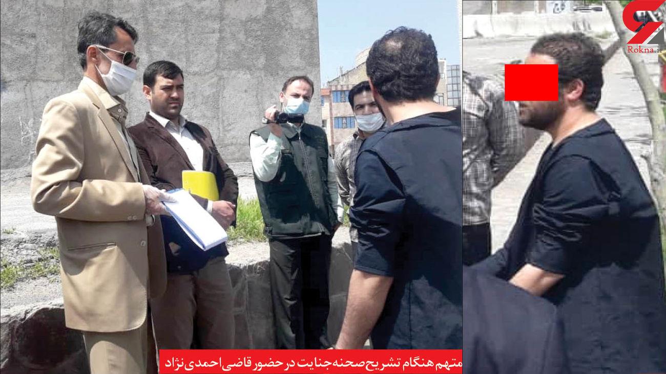 اشک های متهم به قتل یک نوجوان در بازسازی صحنه/ او چهارشنبه سوری مرگباری در مشهد ساخت + عکس