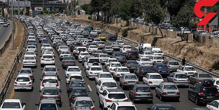 وضعیت ترافیکی معابر بزرگراهی پایتخت روز 12  آبان