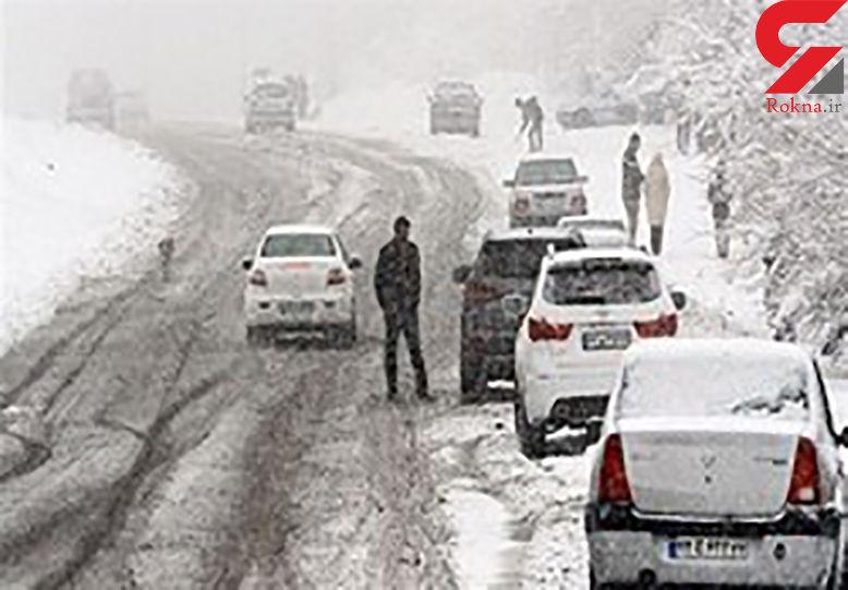 نجات 5 مسافر اسیر در کولاک اردبیل