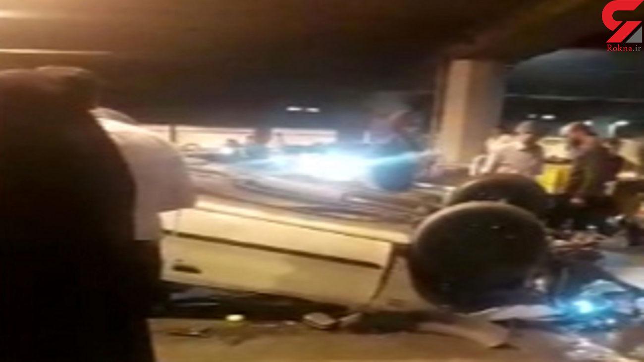 فیلم وحشتناک از چپ کردن ماشین در زیرگذر حرم مطهر رضوی مشهد