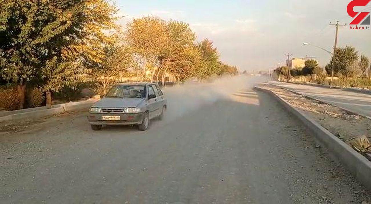 گرد و خاک پروژهای که به کام مردم می رود/ در زرنجان گلپایگان + فیلم