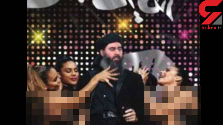 انتشار عکس بی شرمانه از ابوبکر البغدادی در حلقه زنان رقصنده + عکس