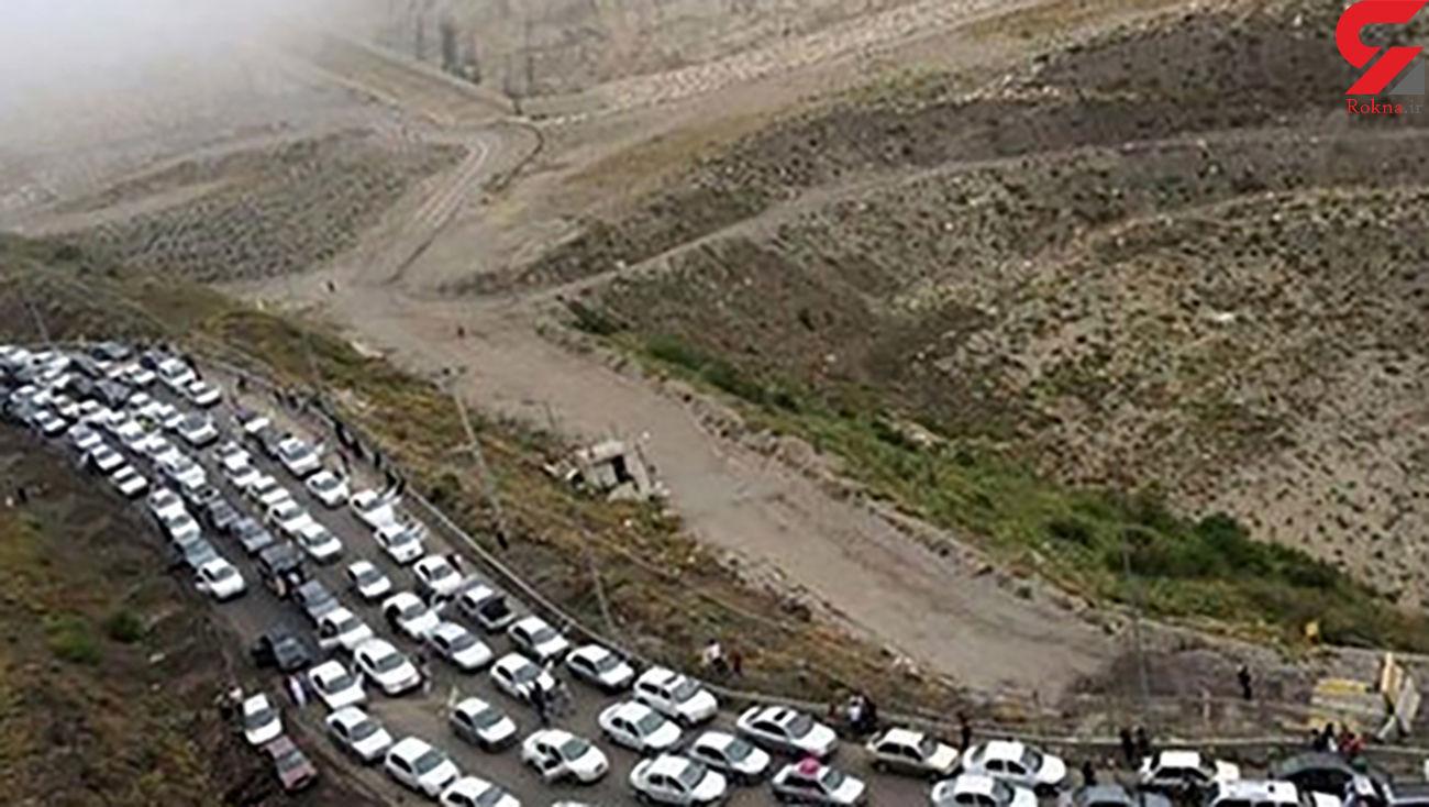 ترافیک سنگین در آزاد راه کرج-قزوین/ تردد در محورهای شمالی روان است