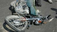 مرگ راکب موتورسیکلت سوار در خیابان رکنی همدان