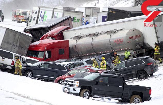 تصادف زنجیرهای 50 خودرو در پنسیلوانیا