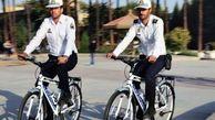 حضور پلیس های دوچرخه سوار در قزوین