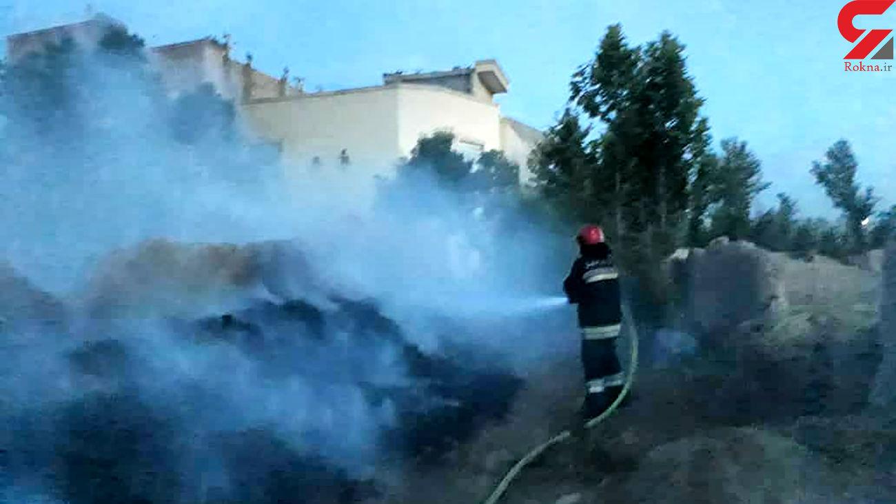 آتش سوزی انبار ذخیره سفالهای گندم در اصفهان