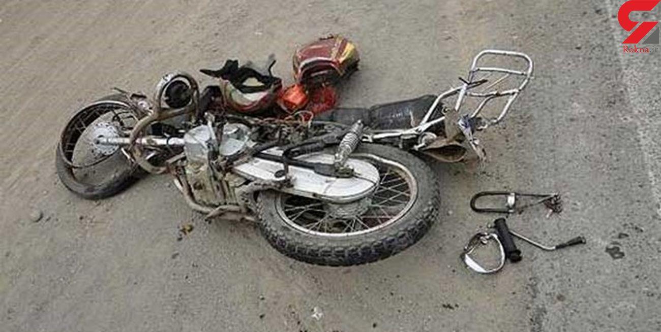 مرگ تلخ بامدادی موتورسوار در جاده قزوین