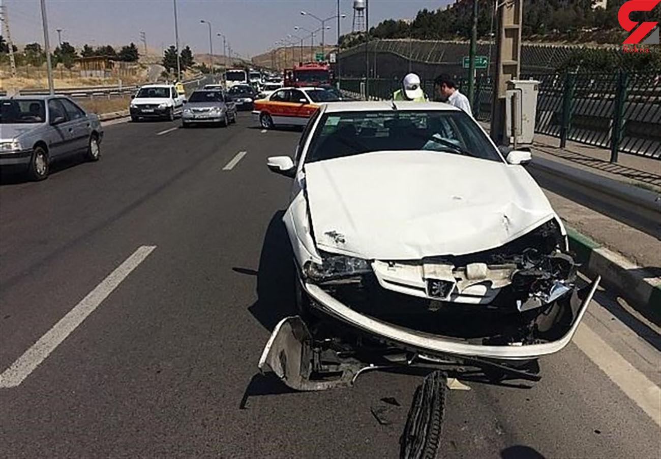 تصادف در جاده بوکان 2 زخمی داشت