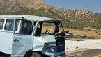 تصادف شدید مینی بوس با حفاظ بتنی / 12 زن و مرد اصفهانی راهی بیمارستان شدند + عکس