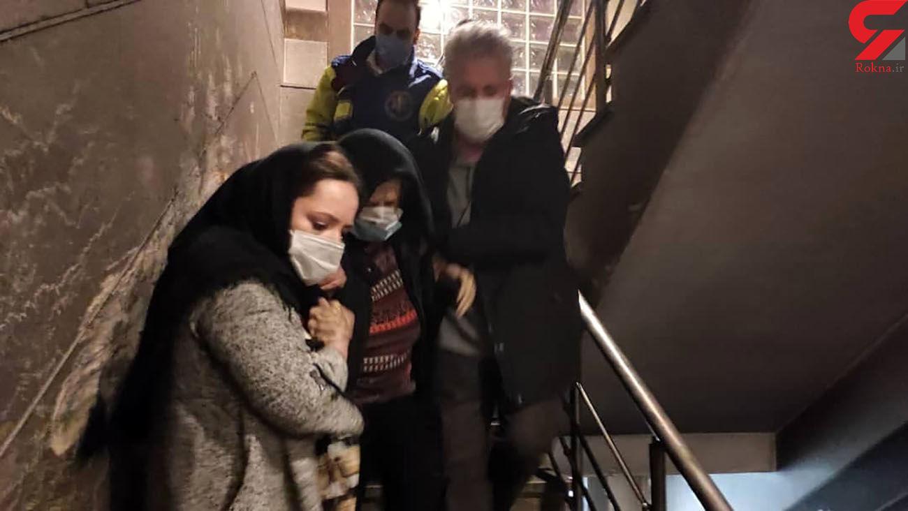 20 زن تهرانی و 5 مرد در محاصره دود و آتش + عکس و فیلم از اختیاریه