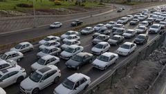 افزایش حجم بار ترافیک معابر شهر تهران برای بعد از ظهر امروز