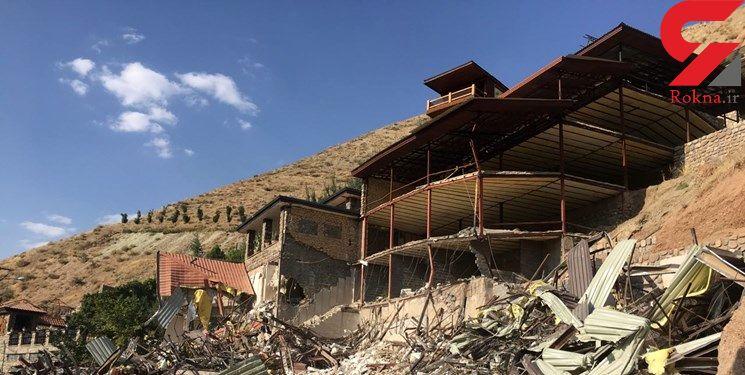 تخریب ویلای 12 میلیاردی در فیروزکوه / صاحب ویلا به کوه هم رحم نکرده بود + تصاویر