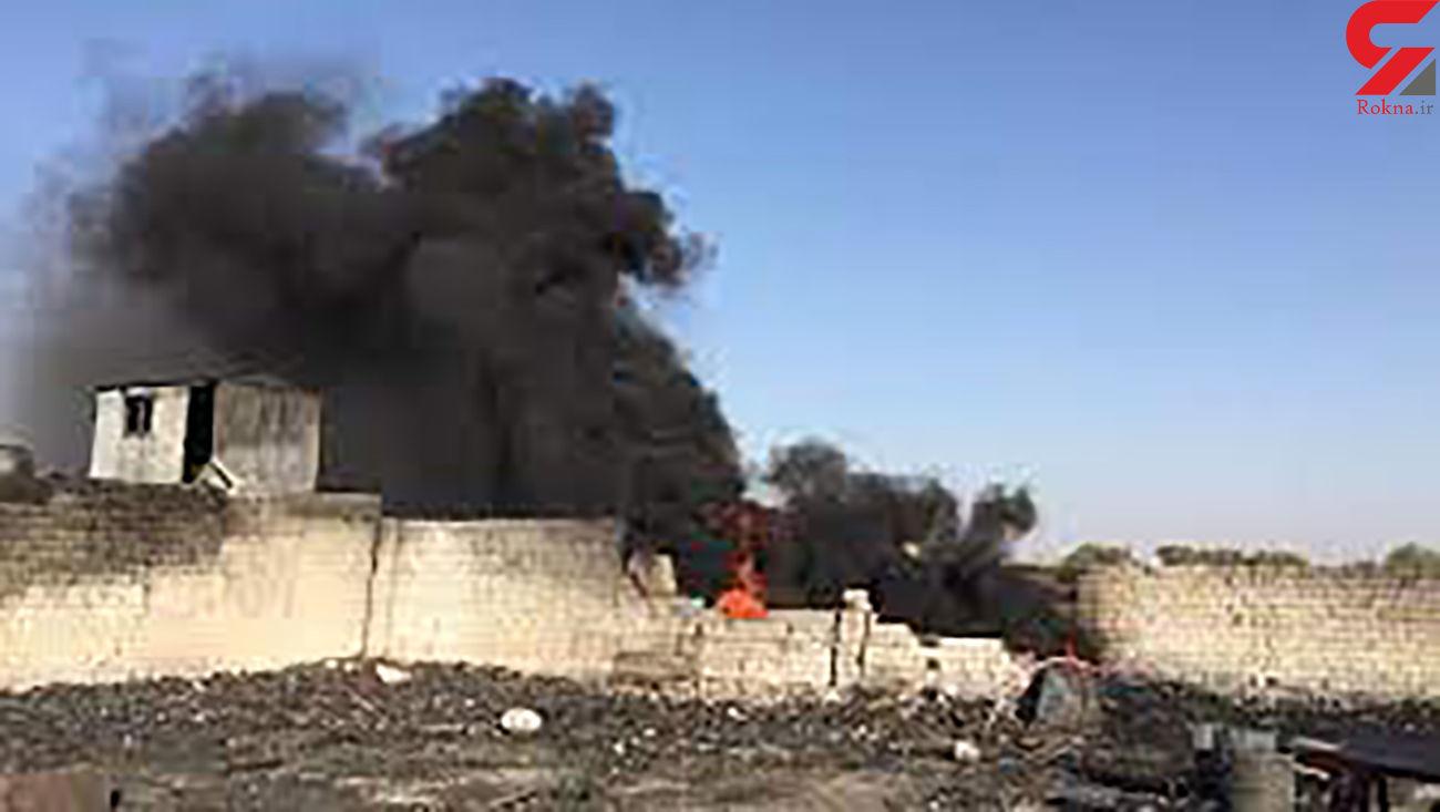 آتش سوزی هولناک انبار ذغال در بجنورد