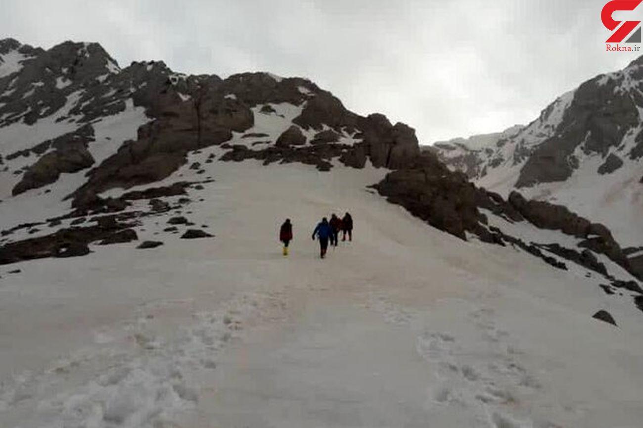 فرار از مرگ  کوهنورد همدانی در اشترانکوه