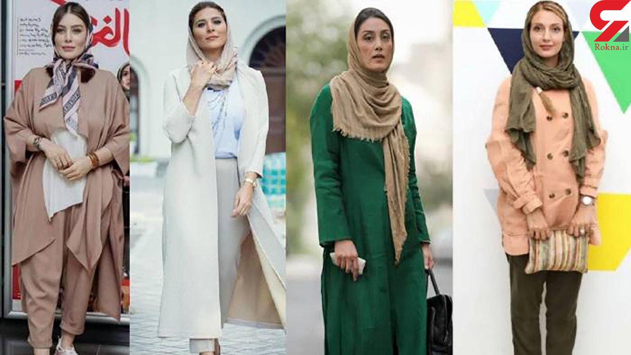 بازیگران زن بلند قامت در سینمای ایران / رکورد مریم مومن بدون کفش پاشنه بلند + عکس