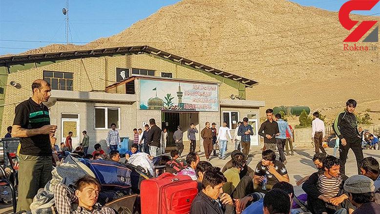 بالا رفتن قیمت دلار افغانستانیها را برای ترک ایران به صف کرد!+عکس