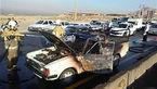 آتش گرفتن ناگهانی خودرو یک دست فروش در جاده میاندوآب- شاهیندژ +عکس
