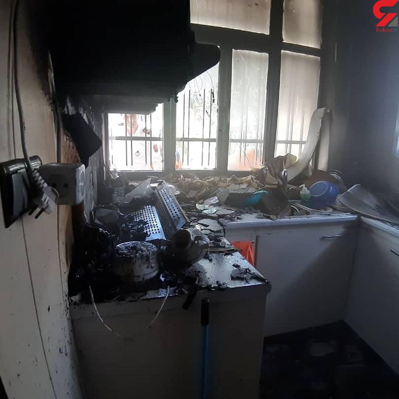 آتش سوزی در مطب حاجی آباد