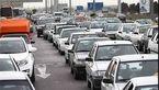 ترافیک شدید در معابر تهران بر اثر بارش باران