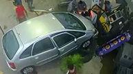 تصادف وحشتناک در پمپ بنزین + فیلم