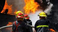 عملیات نجات 3 کودک از یک آتش سوزی بزرگ در مشهد / قایمباشک با آتش