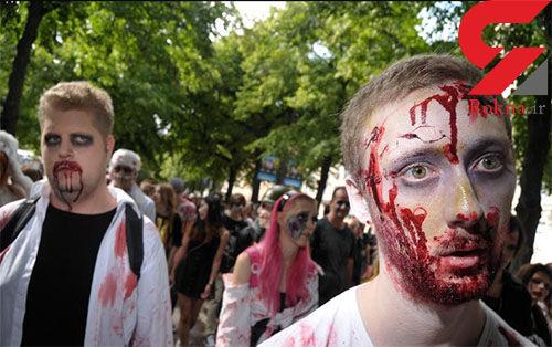مراسم ترس آور زامبی در سوئد