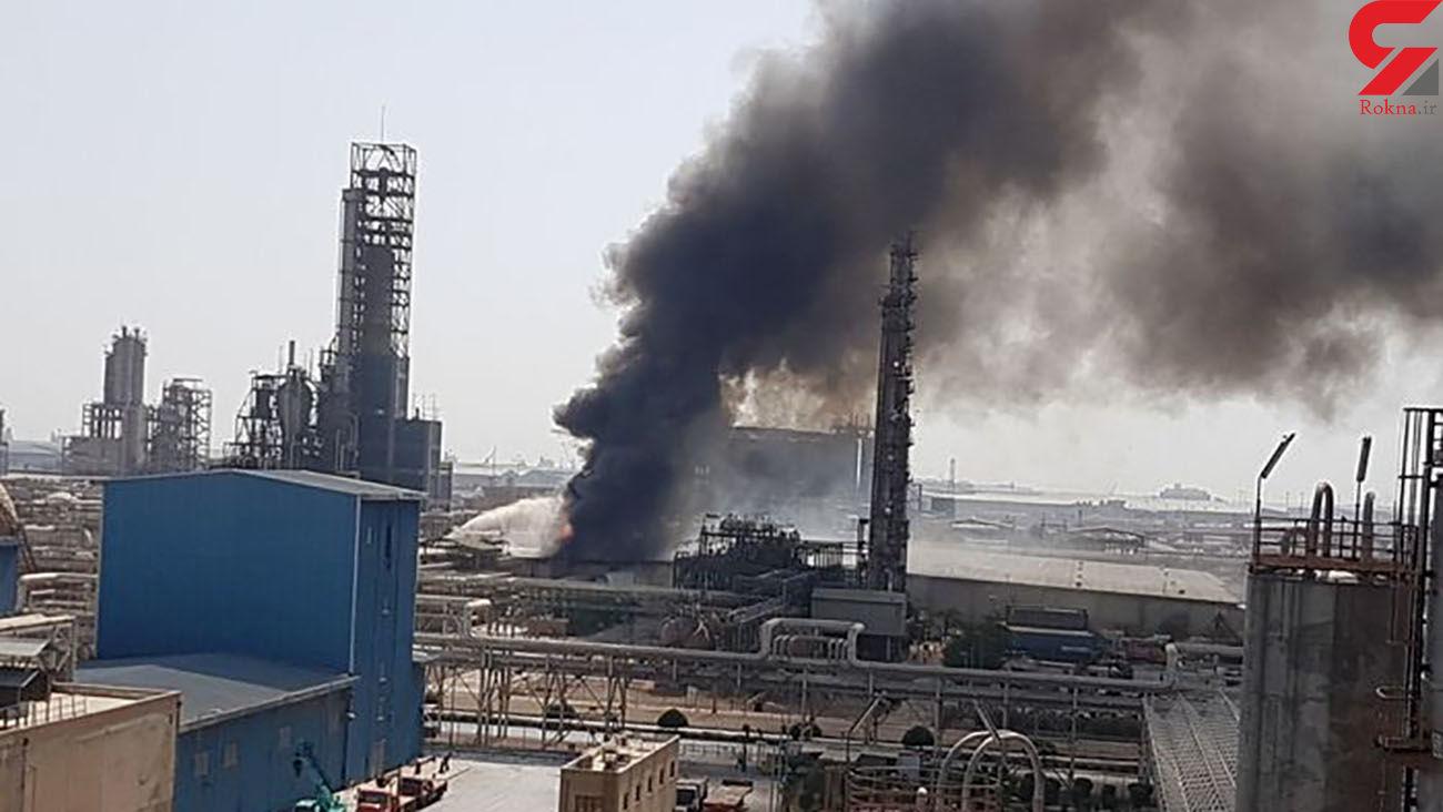 آتش سوزی بزرگ در پتروشیمی امیرکبیر  / دقایقی پیش رخ داد + فیلم