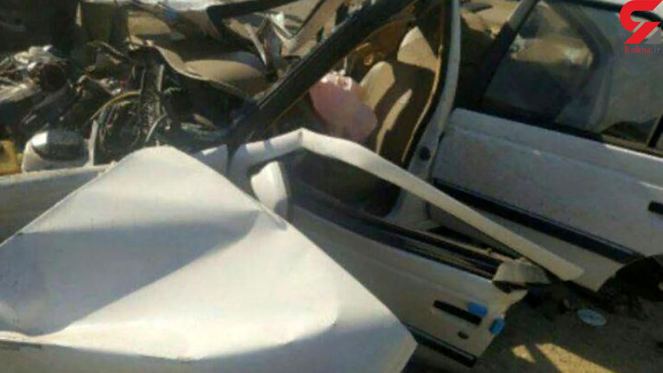 مرگ تلخ مرد جوان زیر لاستیک پژو پارس در اردبیل